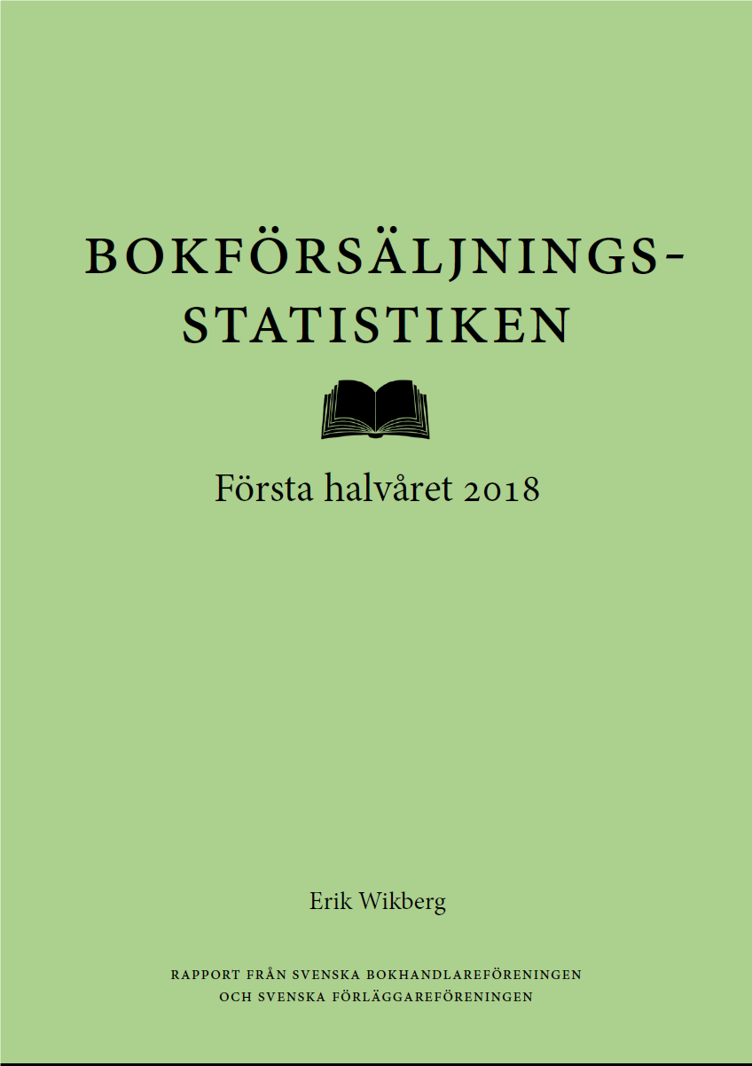 Bokförsäljningsstatistiken första halvåret 2018